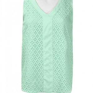ZAC & RACHEL V-NECK SLEEVELESS SOLID CHIFFON TOP